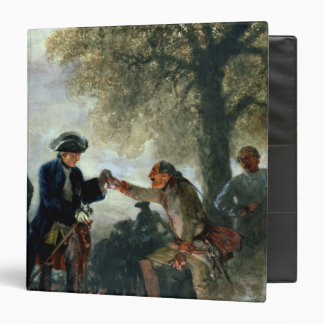 Frederick the Great  with Zieten at the Camp 3 Ring Binder
