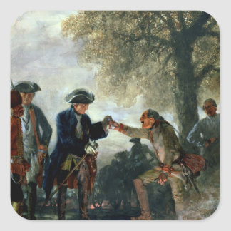 Frederick the Great  with Zieten at the Camp Sticker