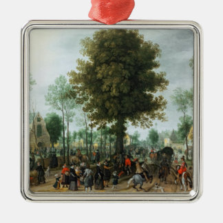 Frederick V and his bride Elizabeth Metal Ornament