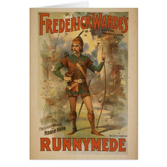 Frederick warde, 'Runnyede', Robin Hood Vintage Th Card