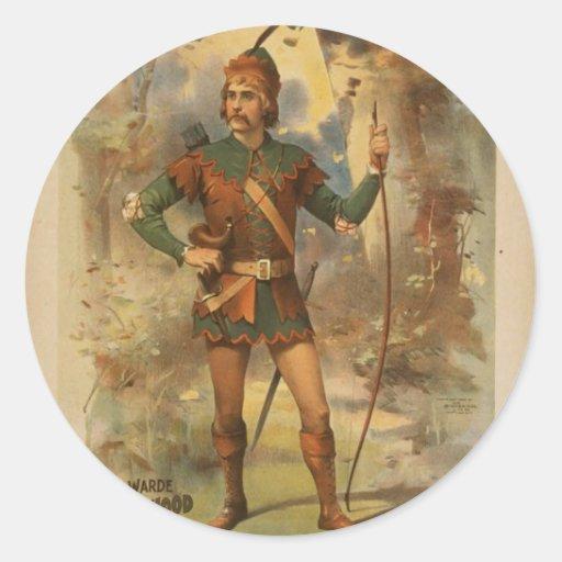 Frederick warde, 'Runnyede', Robin Hood Vintage Th Round Sticker