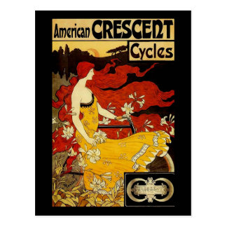 Frederick Winthrop Ramsdell Bicycle Art Postcard