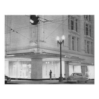 Frederick y Nelson, opinión c1952 de la noche Anuncio Personalizado