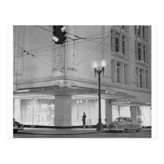 Frederick y Nelson opinión c1952 de la noche Postales