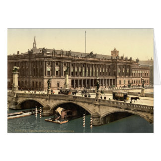 Fredericks Bridge and the Bourse, Berlin, Germany Greeting Card