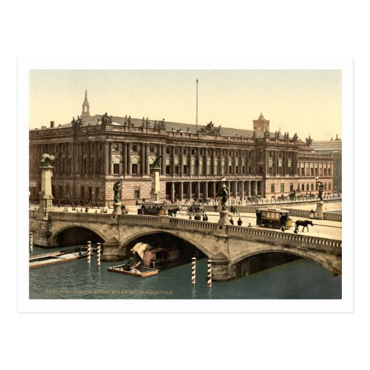 Fredericks Bridge and the Bourse, Berlin, Germany Postcard