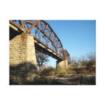 Fredericksburg & Northern RR Watercolor Stretched Canvas Print