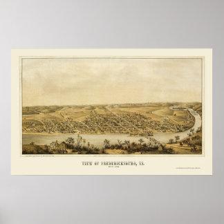 Fredericksburg, VA Panoramic Map - 1862 Poster