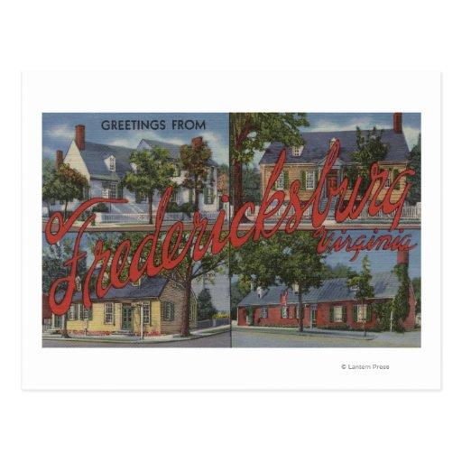 Fredericksburg, Virginia - Large Letter Scenes Postcards