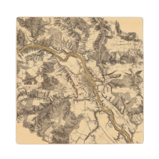 Fredericksburg, Virginia Maple Wood Coaster