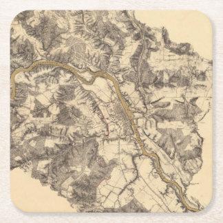 Fredericksburg, Virginia Square Paper Coaster