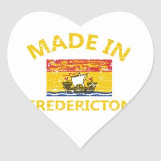 fredericton Coat of arms Heart Sticker
