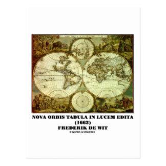 Frederik de Wit Nova Orbis Tabula in Lucem Edita Postcard