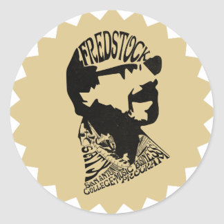 FredHead for FredStock Classic Round Sticker
