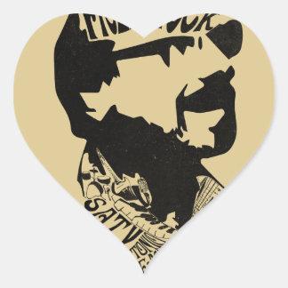 FredHead Logo Heart Sticker