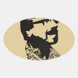 FredHead Logo Oval Sticker