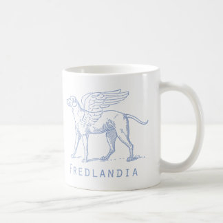 Fredlandia Blue Winged Dog Mug