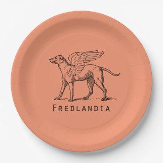 Fredlandia Winged Dog Paper Plate