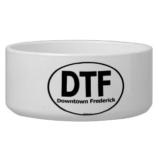 Frednecks DTF Downtown Frederick Dog Water Dish