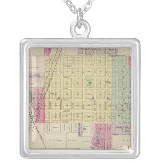Fredonia, Benedict, Buffalo, Kansas Square Pendant Necklace