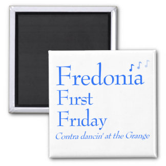 Fredonia First Friday Contra Dance Fridge Magnet