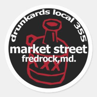 Fredrock Drunkard Decals (sheet of 6) Classic Round Sticker