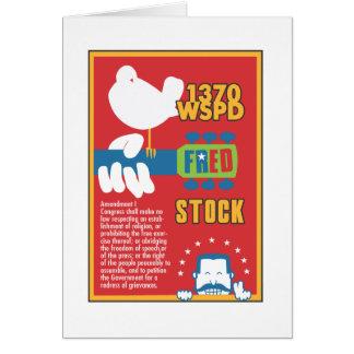 FredStock Tarjeta De Felicitación