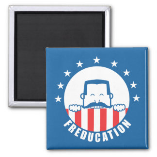 Freducation 2 Inch Square Magnet