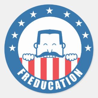 Freducation Classic Round Sticker