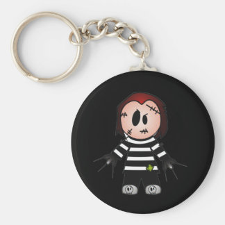 FREDWARD THE CUTE BUT SPOOKY FREAKY KID BASIC ROUND BUTTON KEYCHAIN