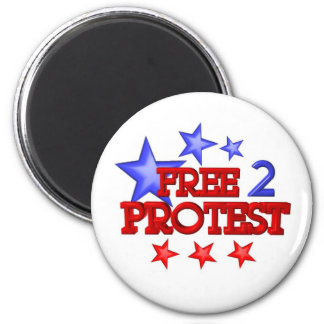 Free 2 Protest Occupy  on 30 items Magnet