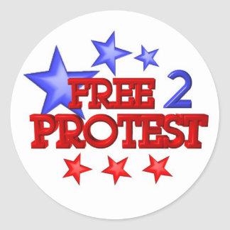Free 2 Protest Occupy  on 30 items Stickers