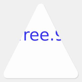 $free.99 blue triangle sticker