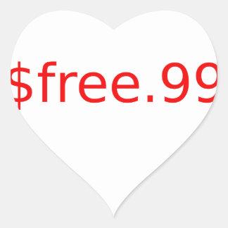 $free.99 heart sticker