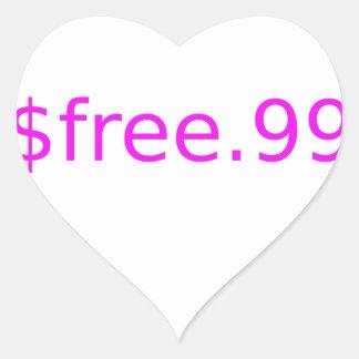 $free.99 pink heart sticker