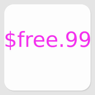 $free.99 pink square sticker