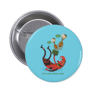 Free a story - read a book! 2 inch round button