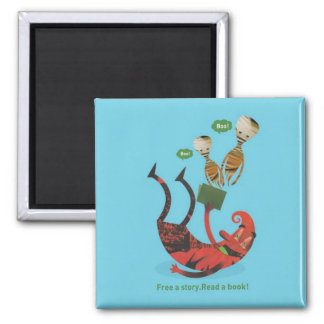 Free a story - read a book! magnets