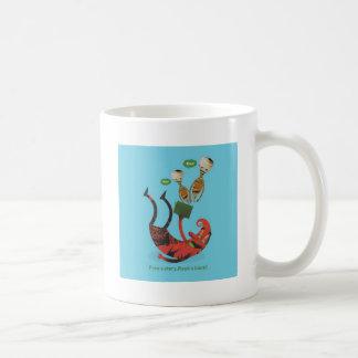 Free a story - read a book! classic white coffee mug