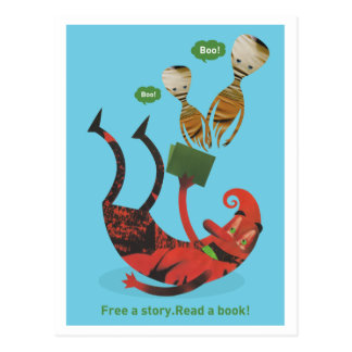 Free a story - read a book! postcard