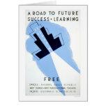 Free Adult Schools 1938 WPA Card
