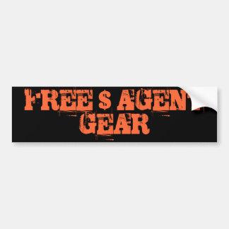 FREE $ AGENT GEAR ,black,bumper sticker Car Bumper Sticker