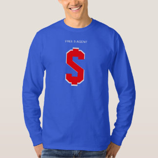 FREE $ AGENT GEAR,shadow,team,tee's,blue Tee Shirt