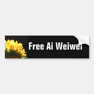 """Free Ai Weiwei"" Bumperstickers Bumper Stickers"