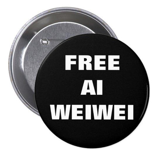 """Free Ai Weiwei"" Buttons Pins"