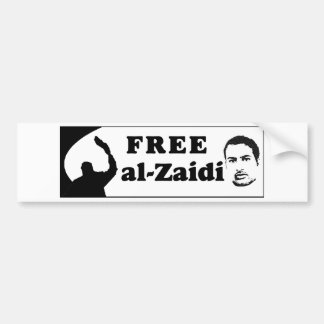 Free al-Zaidi Bumper Sticker - Iraqi Journalist Car Bumper Sticker