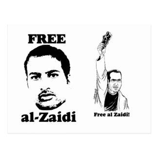Free al-Zaidi Postcard  - Iraqi Journalist