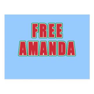 FREE AMANDA T-shirts, buttons, hoodies Postcard