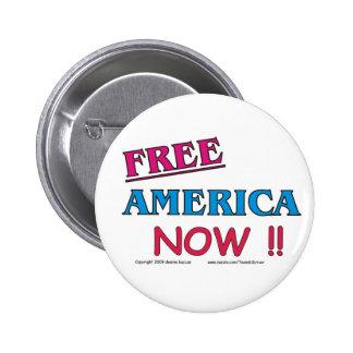 FREE America NOW !! Pinback Button