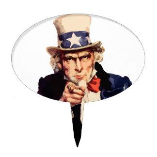 Free America Uncle Sam Cake Topper